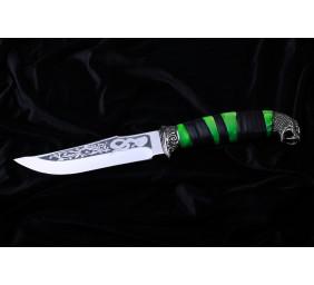 """Нож """"Змея"""" с бронзовым литьем."""
